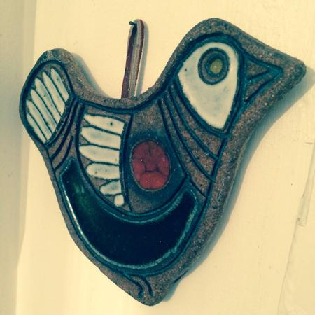 Ceramic Bird Trivet