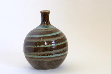 Browndrip Swirl Bud Vase