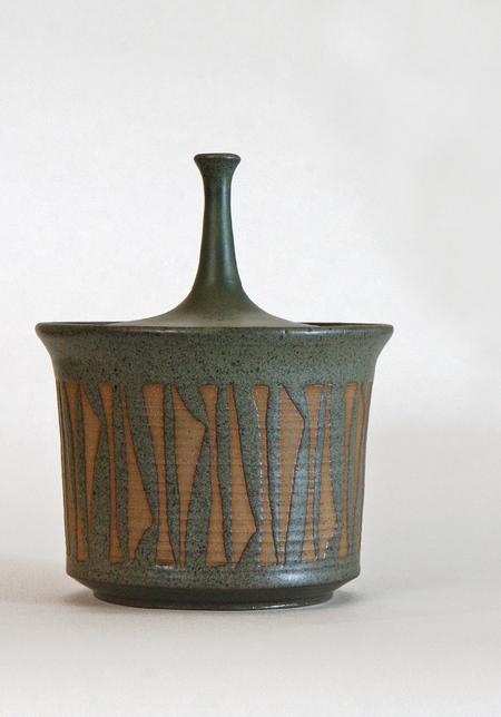 Studio Pottery Lidded Vessel