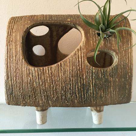 Ikebana Abstract Footed Vase