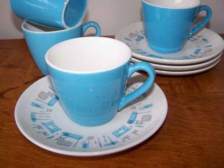 Royal China Blue Heaven Cups & Saucers (4)