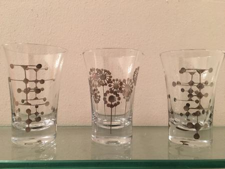 Etched Eames Dot Juice Glasses (3)