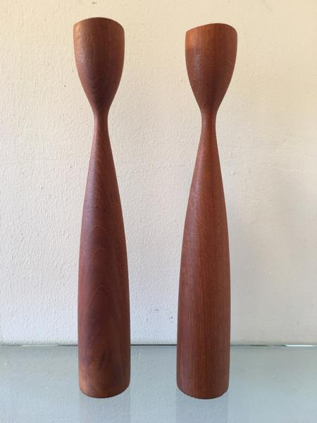 Danish Teak Candlesticks