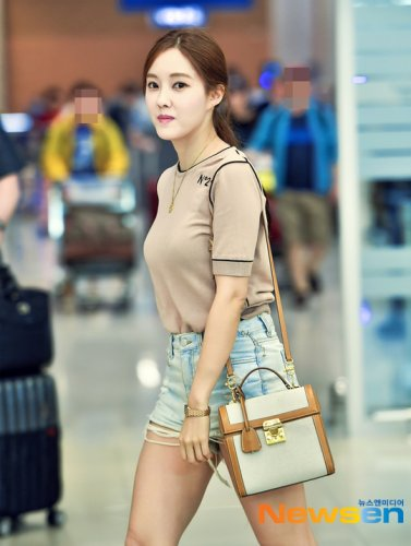 Incheon Airport from Japan - Hyomin (06/2019)