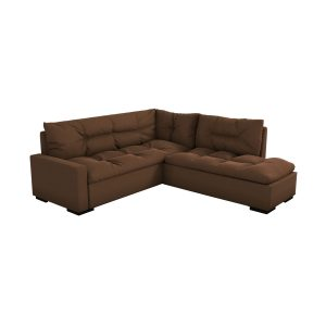 SOFA EN L LIVINA COLOR MARRON A009 203x224x92CM S019-2-A009