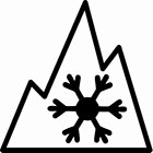 Mountain/Snowflake symbol
