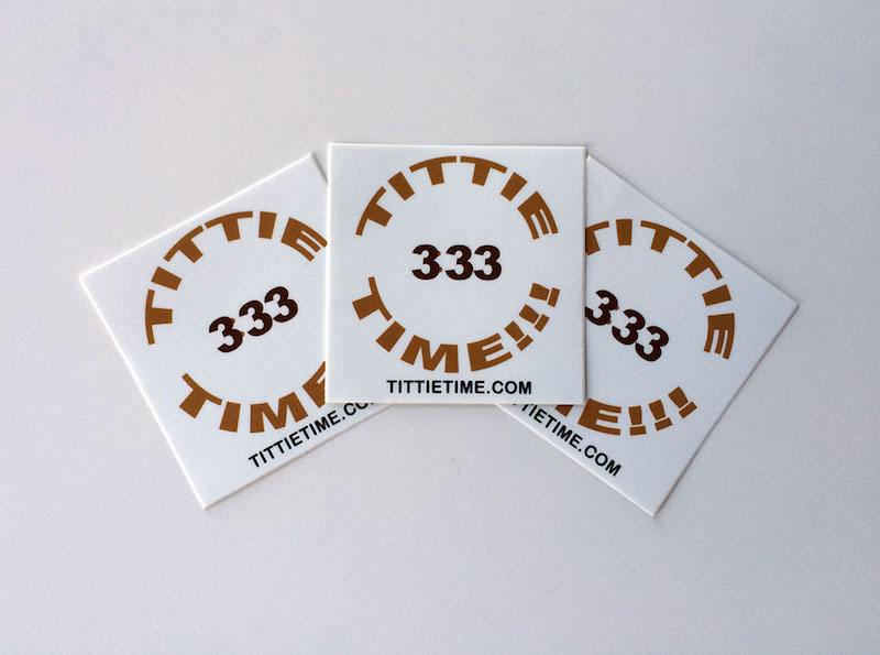 333 tittietime sticker pack medium