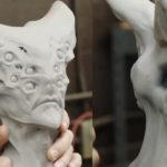 Teste de escultura Saru de 10 olhos