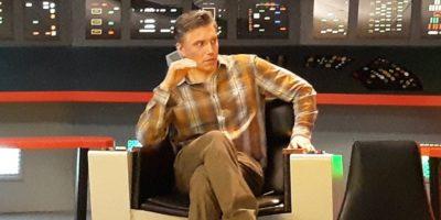 Anson Mount na Cadeira do Capitão da Série Clássica.