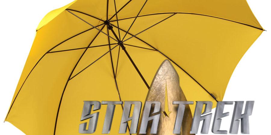 Jornada nas Estrelas debaixo do mesmo guarda-chuvas