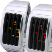 Keisan Silver Led Watches