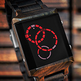 Satellite X Wood Led Watches
