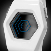 Spider Acetate White Lcd Watches