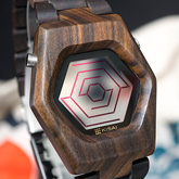 Spider Wood Link Lcd Watches