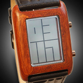 Stencil Wood Lcd Watches