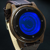 Vortex Wood Lcd Watches