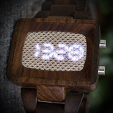 Xtal Wood Link Led Watches