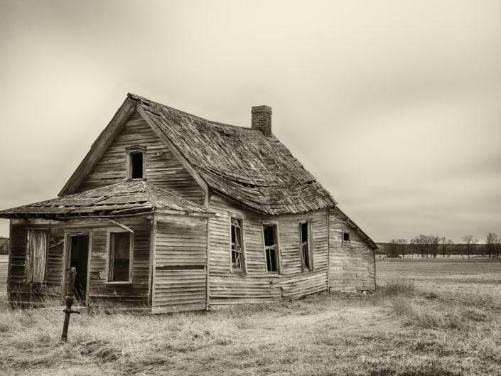 crumbling schoolhouse