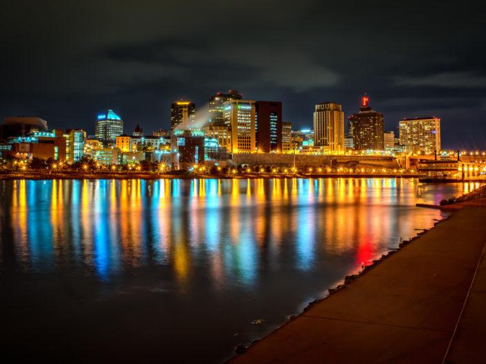 Night in Saint Paul Minnesota
