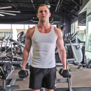weight lifting dumbbell hammer curls