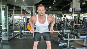 weight lifting reverse grip rows