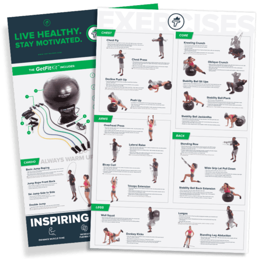 Get Fit Guide over 24 instructions for at home or on-the-go workouts