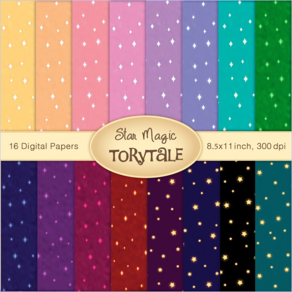 "Digital Paper set ""Star Magic"""