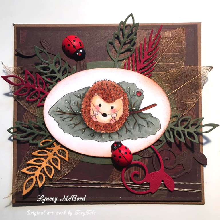 hedgehog digital stamp for cardmaking