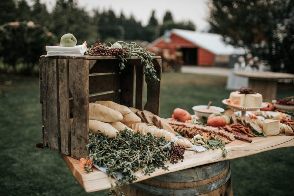 A large charcuterie board is arranged for a gathering