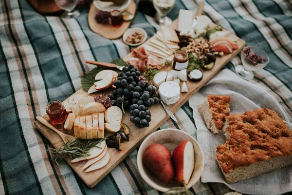 A charcuterie board is made using an arrangement of items found at Lepp Farm Market