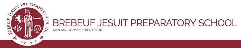 Brebeuf Jesuit Preparatory School banner