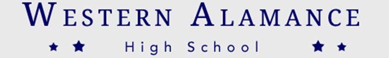 Western Alamance High School banner