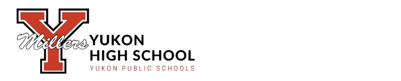 Yukon High School banner