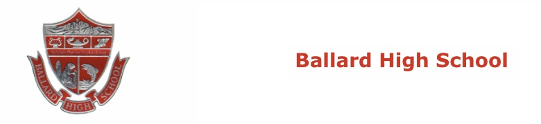 Ballard High School banner