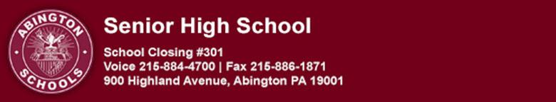 Abington High School banner