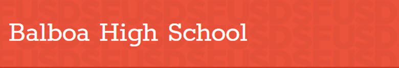 Balboa High School banner