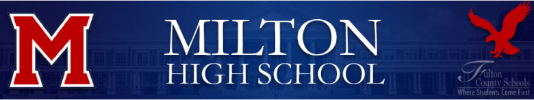 Milton High School banner