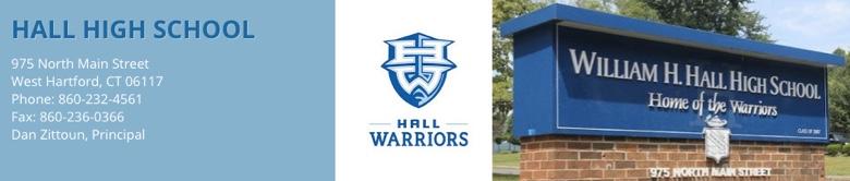 Hall High School banner