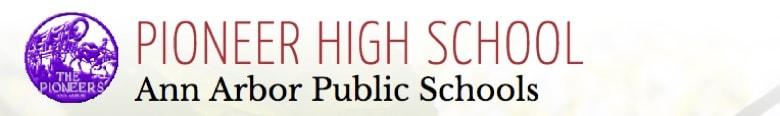 Pioneer High School banner