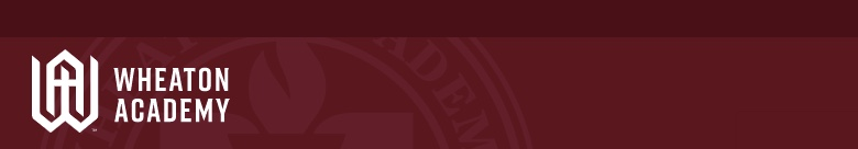 Wheaton Academy banner