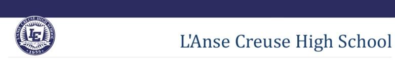 L Anse Creuse High School banner