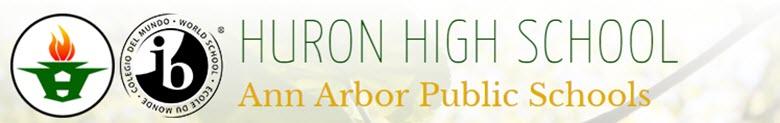 Huron High School banner