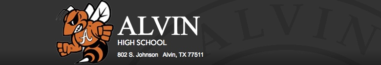 Alvin High School banner