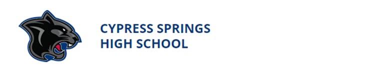 Cypress Springs High School banner