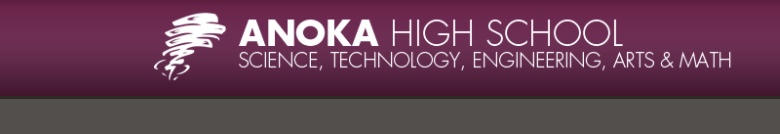 Anoka High School banner