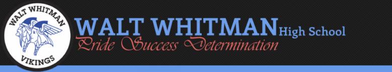Walt Whitman High School banner