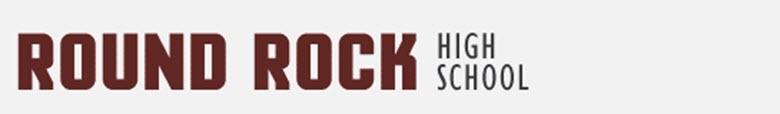 Round Rock High School banner