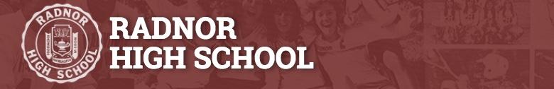 Radnor High School banner
