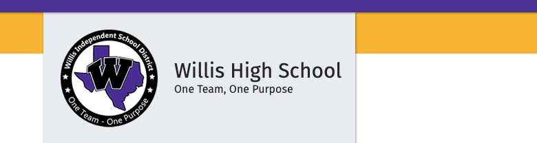 Willis High School banner