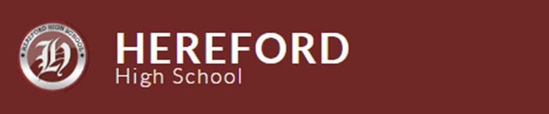 Hereford High School banner